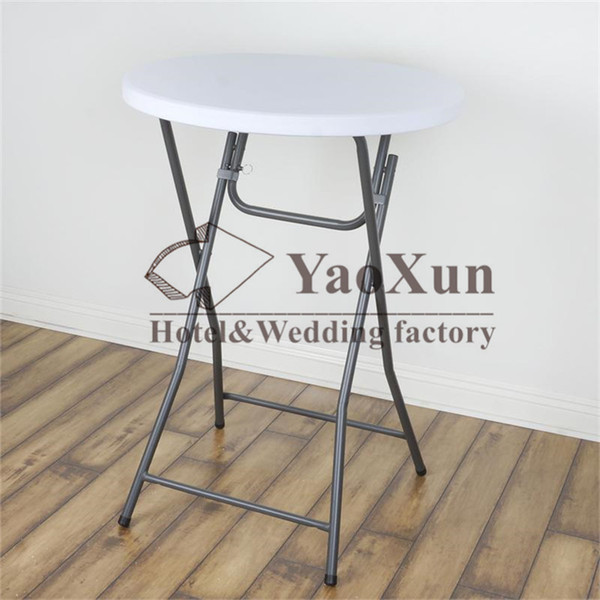 top popular 20pcs White Color TOP Cocktail Spandex Table Cover \ Bistro Table Cloth Decoration 2020