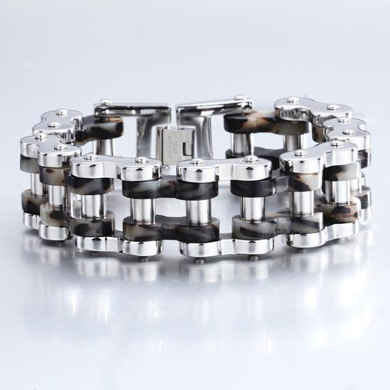 Punk Jewelry Bracelets Wholesale Top Quanlity 24mm Huge Heavy Men's Motor Bike Chain Motorcycle Chain Bracelet Bangle 316L Stainless Steel