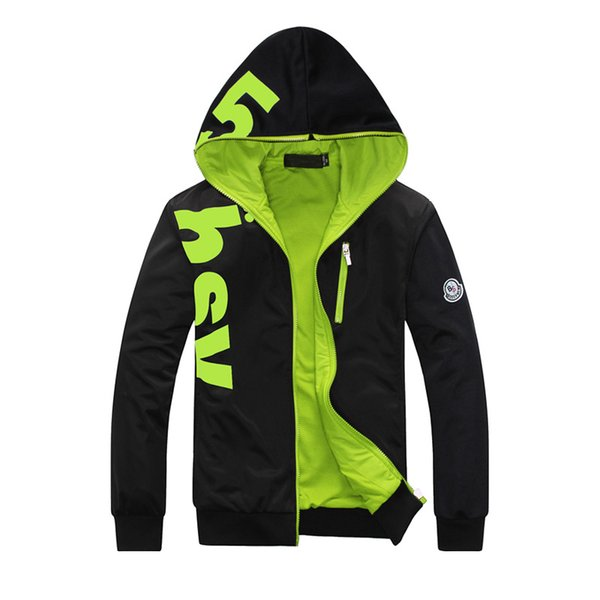 Fall-Men's Fashion Sports Jackets Letter Print Casual Hooded Outwear Plus Size 6XL 3 Colors 2015 Hot Sale High Quality Free Shipping