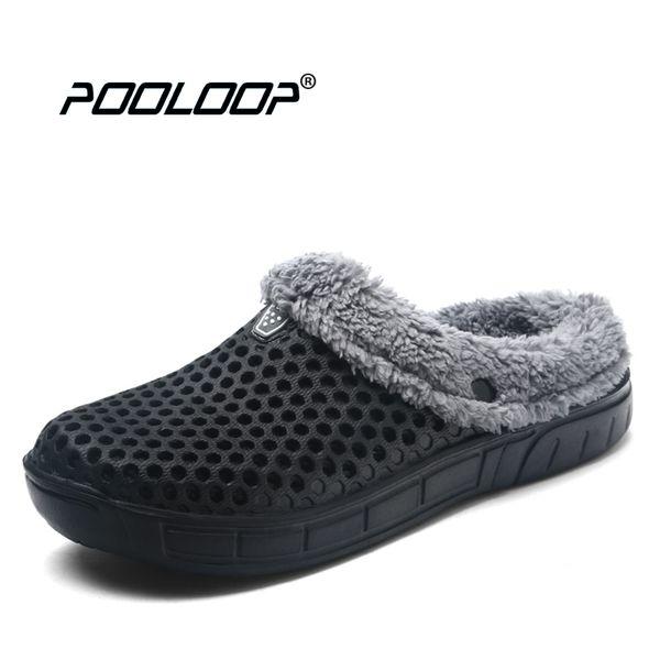 2017 Winter Warm Slippers Women Indoor Shoes Cotton Casual Croc Clogs With Fur Fleece House Floor Slippers Women Pantoffels