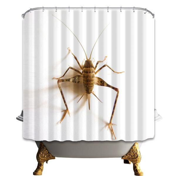 Accesorios Para Cuarto De Bano.Compre Cortina De Ducha De Insectos Animal Lindo Cuarto De Bano Decoracion Tela De Poliester Impermeable Accesorios Para El Bano En El Hogar Cortinas