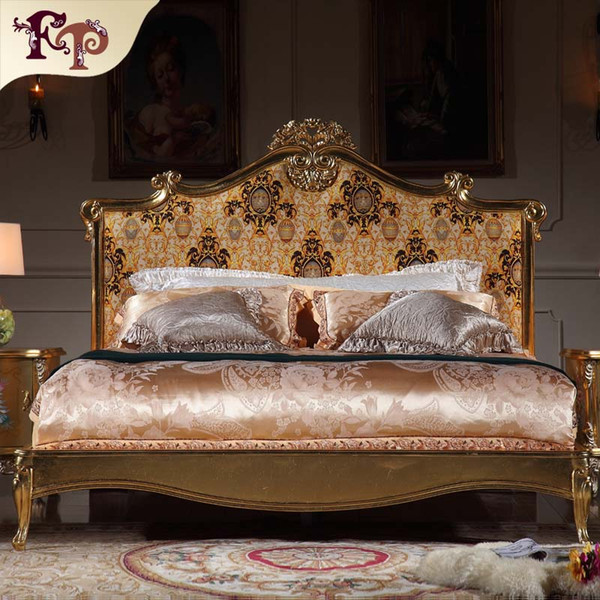 2019 Italian Luxury Bed French Rococo Bedroom Furniture Solid Wood Carved  Furniture With Gold Leaf Gilding From Fpfurniturecn, $2000.0 | DHgate.Com