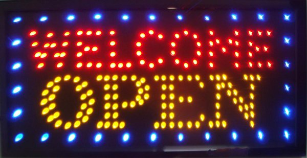 direct selling new advertising light shop welcome open sign 33*60 CM led neon sign led billboards Wholesale