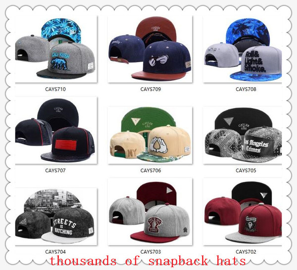 top popular New Arrival Snapbacks Hats Cap Cayler & Sons Snap back Baseball casual Caps Hat Adjustable size High Quality drop Shipping 2019