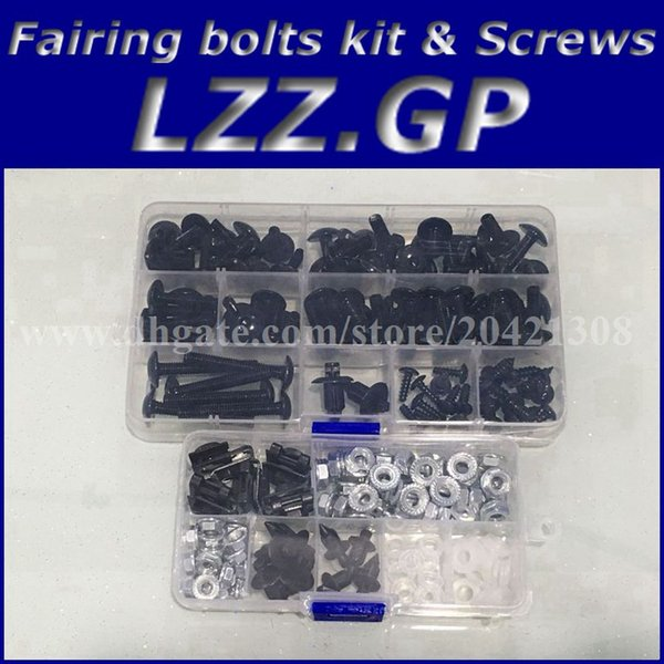 best selling Fairing bolts kit screws for Kawasaki NINJA ZX9R 00 01 02 03 ZX 9R 2000 2001 2002 2003 ZX-9R fairing screw bolts Black silver