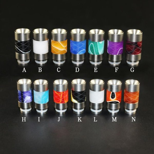 Rich Styles wide bore stainless steel drip tip and acrylic drip tip for 510 Threading RDA Aspire Cleito kanger Glass quartz coil atomizer