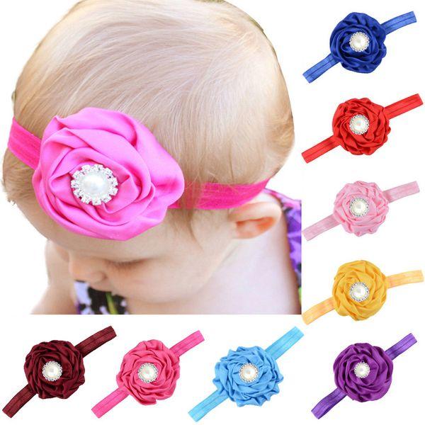 40pcs Satin Rose Headbands Handmade Baby Headband Baby Shower Gift Kit DIY Elegant Headband Cute Birthday Girl Headband for Sale