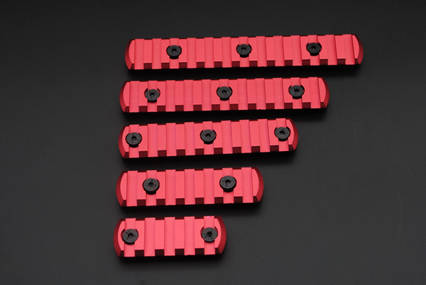 New Red 5,7,9,11,13 Slots Picatinny/Weaver Rail Sections for Key Mod Handguards Free Shipping
