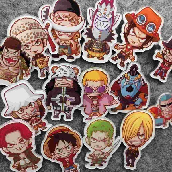 Japan Harajuku ZIPPER cute soft sister badge badge Brooch One Piece series cartoon acrylic