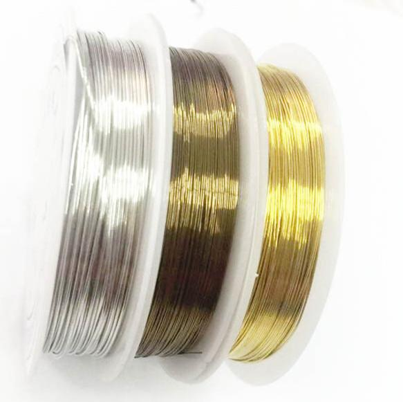 Free shipping Colored Bead Wire Artistic Craft Wire jewelry beading string Craft Beads Jewelry Making DIY 3 Colors