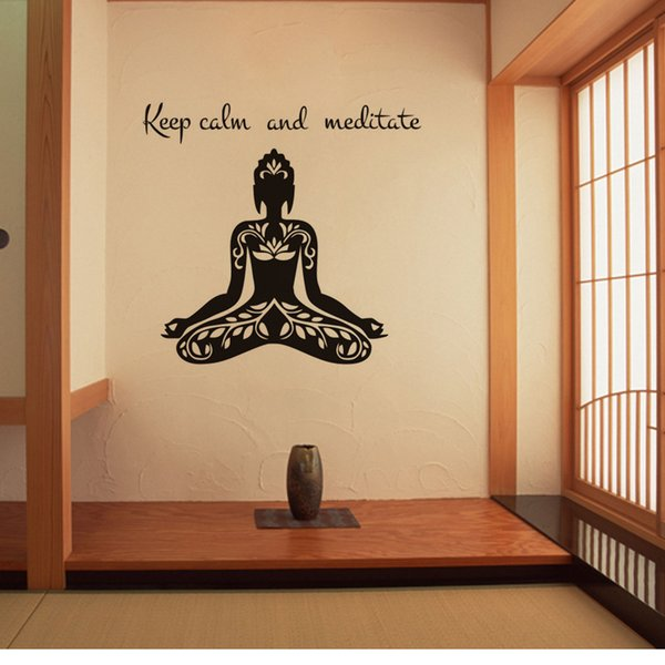 2016 New Creative India Sports Yoga Letters Pvc Wall Sticker ...