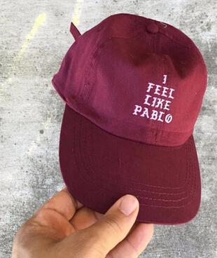 Male Letter I FEEL LIKE KOBE pablo kanye west Baseball Cap Hip Hop Brand Snapback drake Hat Women Men Fishing Cap Gorra lebron