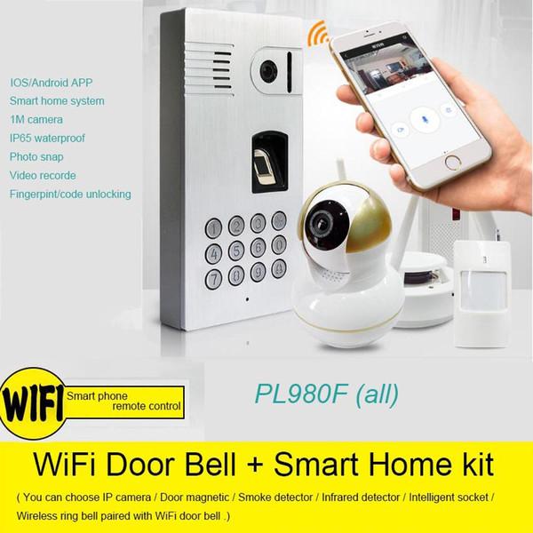 Waterproof Wifi Ip Video Door Phone With Fingerprint Smart Home