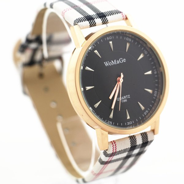 Free shipping!PU leather belt,gold plating alloy round case,black dial,quartz movement,womage fashion unisex young quartz watches,1186
