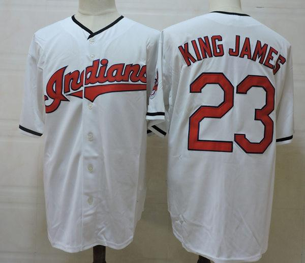 super popular 5c02e bc7a8 2017 Mens Stitched Home White Lebron James Baseball Jersey Nickname #23  King James Cool Base Baseball Jersey Size S 3xl From Xt23518, $18.85 | ...