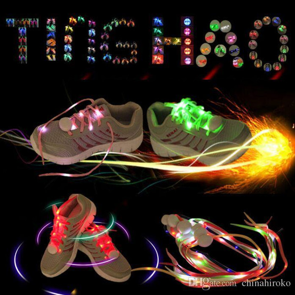 7 Colors LED Shoe Flashing shoelace light up Disco Party Fun Glow Laces Shoes Halloween Christmas gift Free DHL FedEx