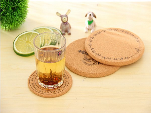 200pcs Fast shipping Round Cork Coasters Tea Drinks Coasters Cup Mats Pads Home Vintage Cup Coaster Modern Kitchen Accessories