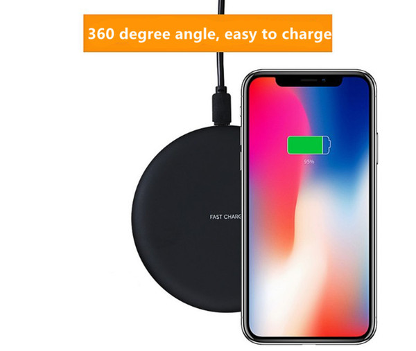 best selling New 9V 1.67A Fast Quick Qi Charger wireless charger For Samsung Galaxy S7 Edge S8 Plus Note 8 Iphone 8 X