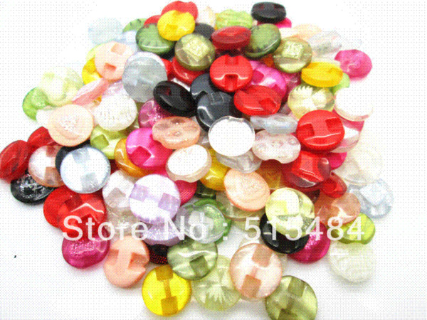 Wholesale 150Pcs Mixed Flower Resin Sewing Shank Buttons Scrapbook 13mm Knopf Bouton Decoration (W03623) M66051 Buttons