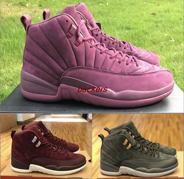 new concept 71476 83c93 Retro 12 Bordeaux 12S Dark Grey Mens Wholesale Discount Man Basketball  Shoes Sneakers Trainers Basket Ball Shoes US 8 13 Sneakers For Women Shoes  Kids ...