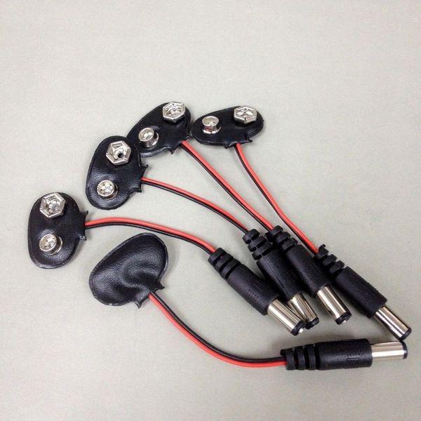 best selling 9V Car CCTV Camera Battery Snap Connector Clip DC 2.1mm Plug Adapter 50PCS