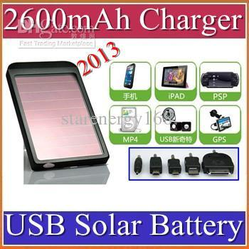 2600mAh USB Solar Battery Panel Charger for Phone MP3 MP4 PD with retail box 100pcs/lot