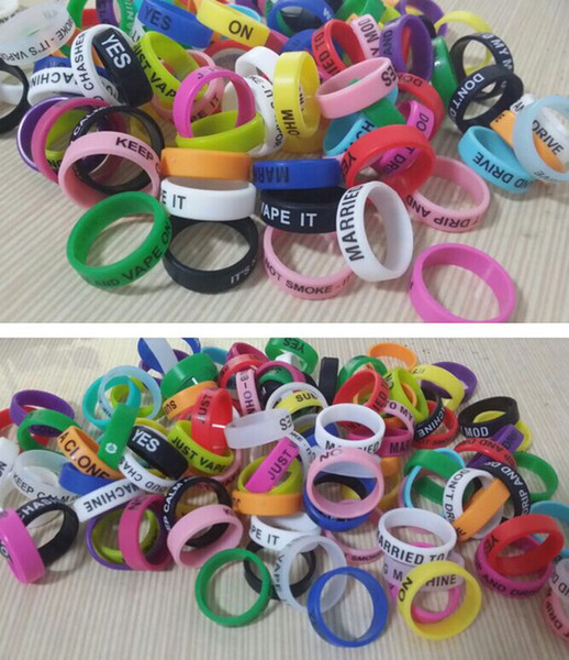 1000Pcs Decorative and protection mod vape band silicone custom rubber vape rings ecig silicon vape band Non-Slip Rubber Bands E Cigarette