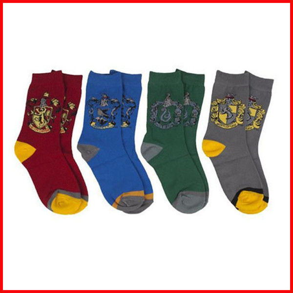 Harry Potter LOGO Socks Anklet Hogwarts Gryffindor Slytherin Ravenclaw Hufflepuff Badge For Men Women Christmas