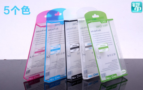 Universal PVC Retail package Packaging Plastic boxes for cell phone Case iphone 4 4S 5 5S 5C Galaxy S3 mini S4 mini case Package mix color