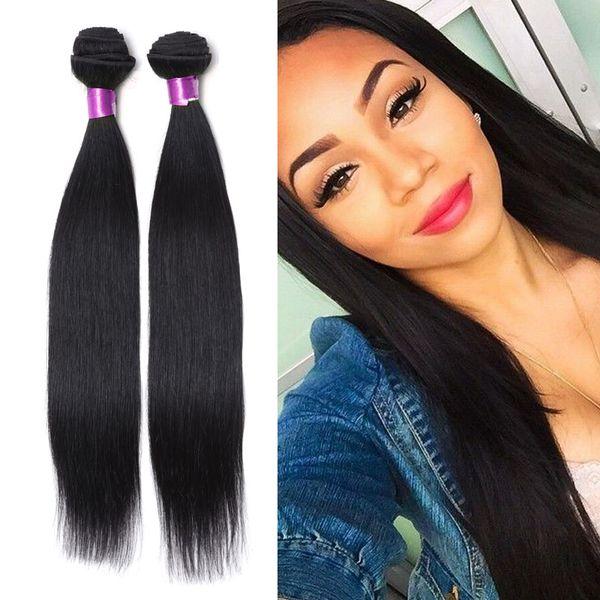 brazilian human hair straight Virigin hair bundles Human Hair Extensions Peruvian Malaysian Brazilian Straight Human Weaves Straight Wefts