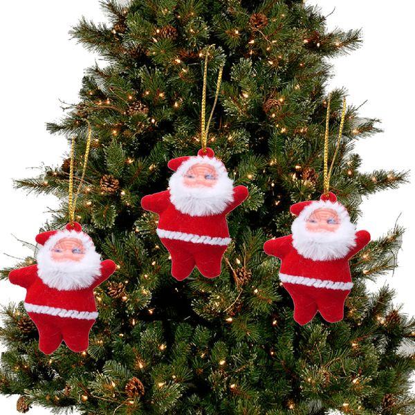 1Pcs Poupon Clochette Pendentif Ornement Décor Arbre Père Noël Fête Santa Cadeau
