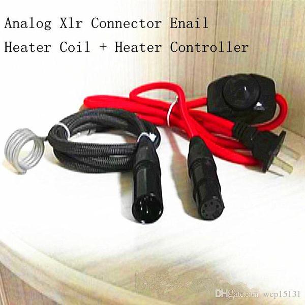 Yeni Varış Taşınabilir D-tırnak Ünitesi Analog Enail Isıtıcı Bobin + Konnektör 5 Pins Kelvar Isıtıcı Bobin 120 v Enail Kiti Sıcak Koşucu Sigara Cihazı