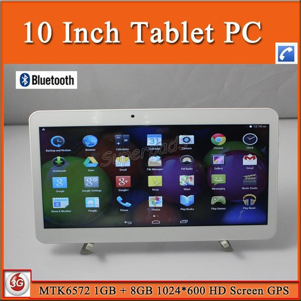 DHL Free Shipping Phone Calling Tablet PC 10 Inch 3G WCDMA Unlocked Phablet Dual Core Android Tablets MTK6572 1GB 8GB GPS WIFI OTG