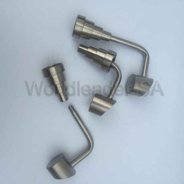 New Universal 6 in 1 titanium nail with Swing Top hat carb cap 10mm 14mm 18mm adjustable male or female for smoking