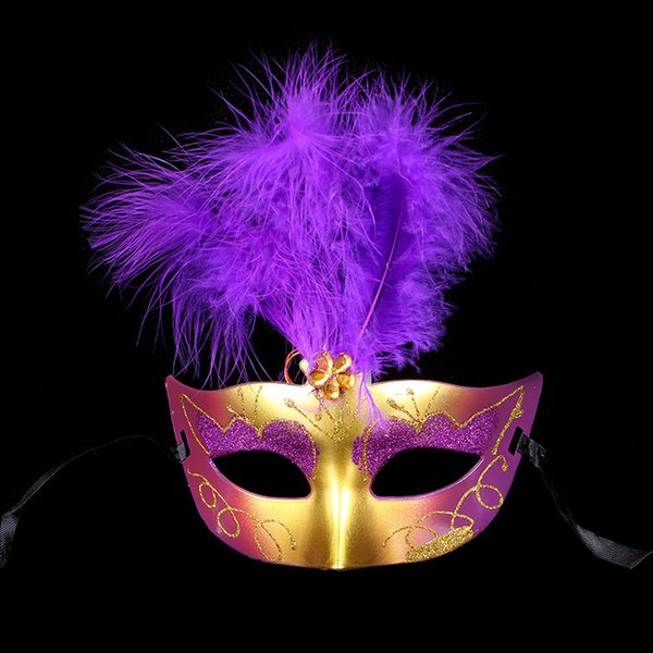 Light feather mask bar Masquerade Mask Halloween Mask toy stall goods wholesale