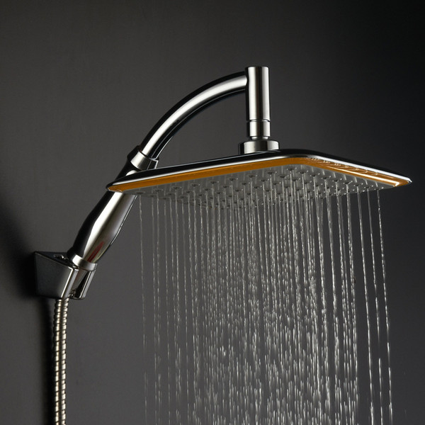 top popular 2017 Cheapest!! wholesale 9 inches big size square rainfall showerhead universal watersaving hydrotherapy anion shower nozzle 2019