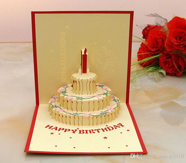 3d Card Birthday Cake 3d Pop Up Gift Greeting 3d Blessing Cards – Christmas Birthday Greetings
