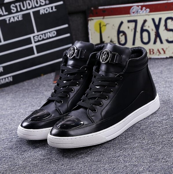 New Fashion Men Breathable Casual High Top Exercise Shoes Men's Flats Shoes Male Ankle Boots Footwear for Men EU Size 37-44