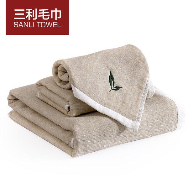 Grüner Tee Aroma 100% Baumwolle Gesichtstuch Bad Strand Küche Handkühlung  Hotel Luxus Handtücher Bäder Für