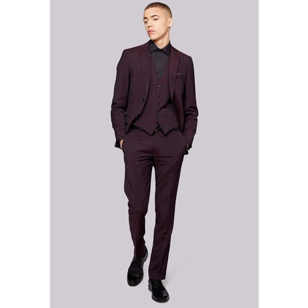 Custom Made Hot Sale Mens wedding Suits Formal Wear 3 Piece Slim Fit Suits Coat Blazer Men Suits (Jacket+Pants+Vest) G531