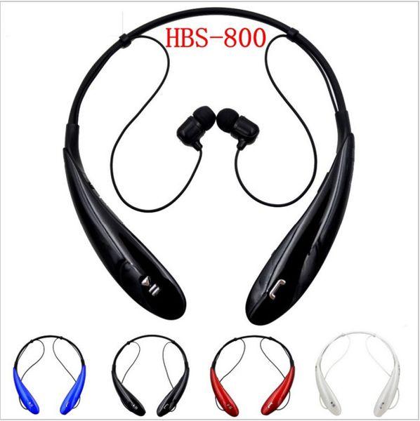HBS-800 Bluetooth Headset Wireless Earphone Bluetooth Headphone Ear Buds Head Phone Set for iPhone 6 5S 4S Samsung Xiaomi Earbud