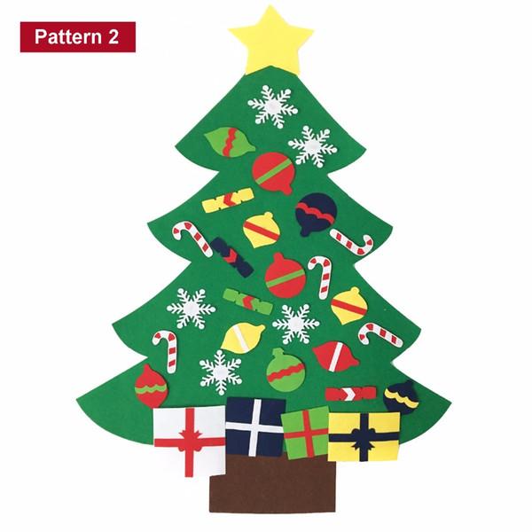 Imagenes Animadas Arboles Navidad.Compre Dibujos Animados Nuevos Ninos Diy Fieltro Conjunto De Arbol De Navidad Con Adornos Regalo De Ninos Puerta De Nino Colgante De Pared Artesania