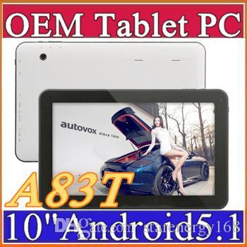 "2016 10"" Allwinner A83T Octal-Core Cortex A7 1.2GHz Android 5.1 tablet pc Capacitive 1GB 16GB Dual Camera HDMI Wifi USB OTG Bluetooth D-10PB"