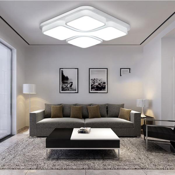 Iluminación De Led 36W Decoración Accesorio Led De Downlight Moderno Compre Led Lustres Techo Geometría Interior Light 24W 48W Lamparas Light Lámpara 2IEDeH9WYb