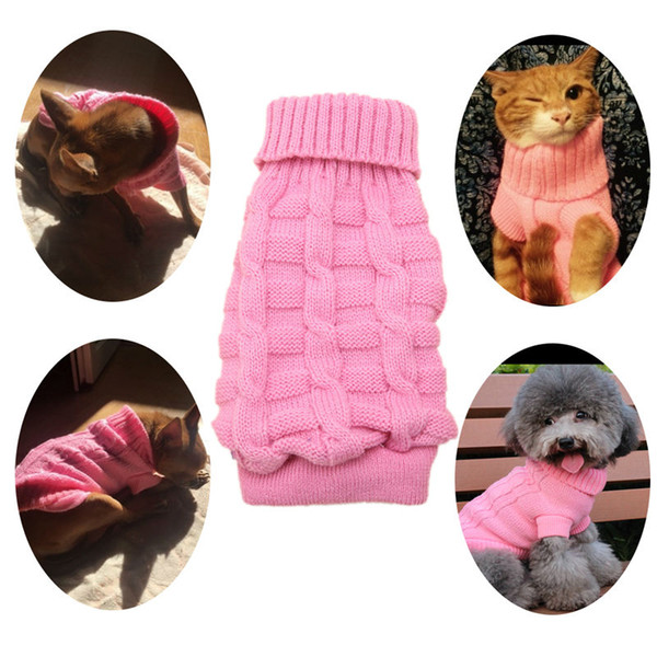 Small Pet Dog Puppy Cat Warm Sweater Clothes Knit Coat Winter Apparel,chiens chandail,xmas cat dog clothes,cat dog sweaters,E5M1 order<$18no