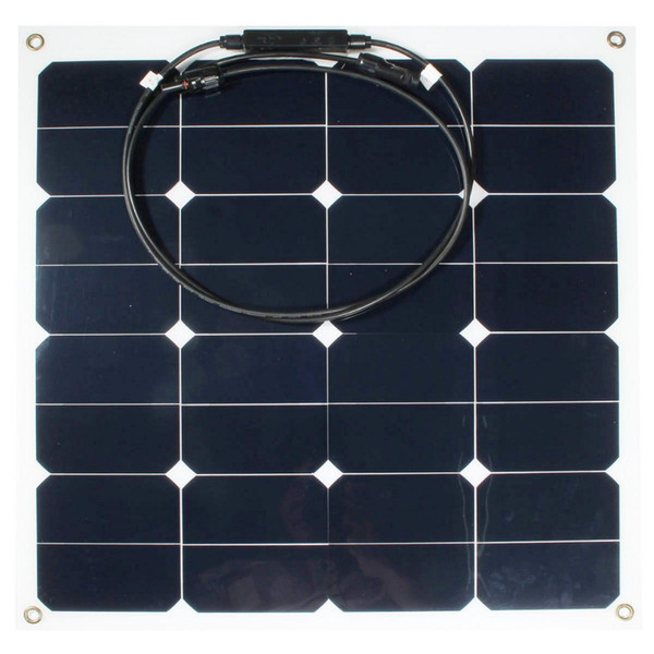Al por mayor-Eficiencia 12v 50w Sunpower Soft Semi Flexible Panel Solar Monocristalina Herramienta de Silicona