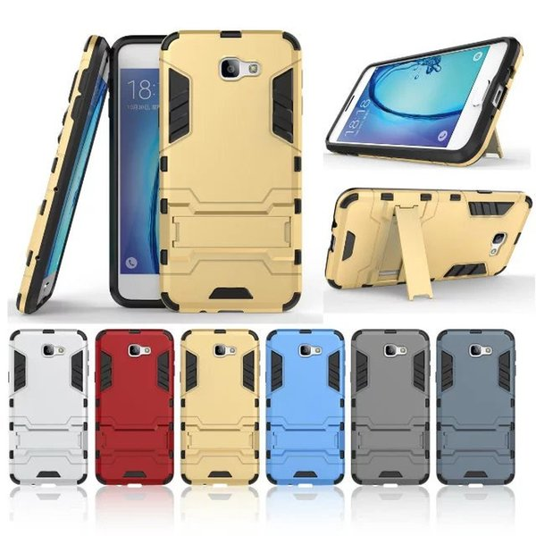 For Samsung Galaxy J7 Prime Case On5 On7 2016 Armor Dual Layer Full Body Heavy Duty Ultimate Drop Protection Rugged Cover with Kickstand