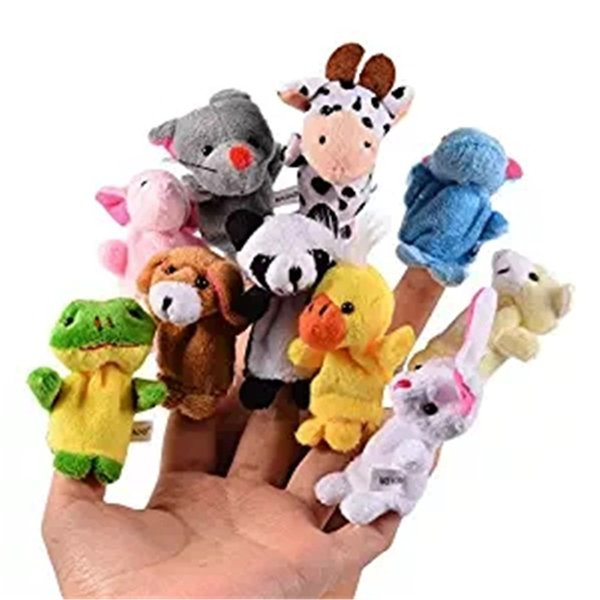 Hot Sale Cartoon Biological Animal Finger Puppet Plush Toys Child Baby Favor Dolls Baby Kids Children Gift Toy Free Shipping