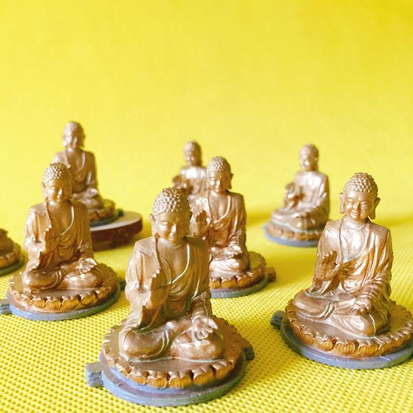 10Pcs Buddha Statue berühmte Architektur Statue / Fee Garten Gnome / Moos Terrarium Wohnkultur / Kunsthandwerk / Bonsai / Miniaturen / Figurine