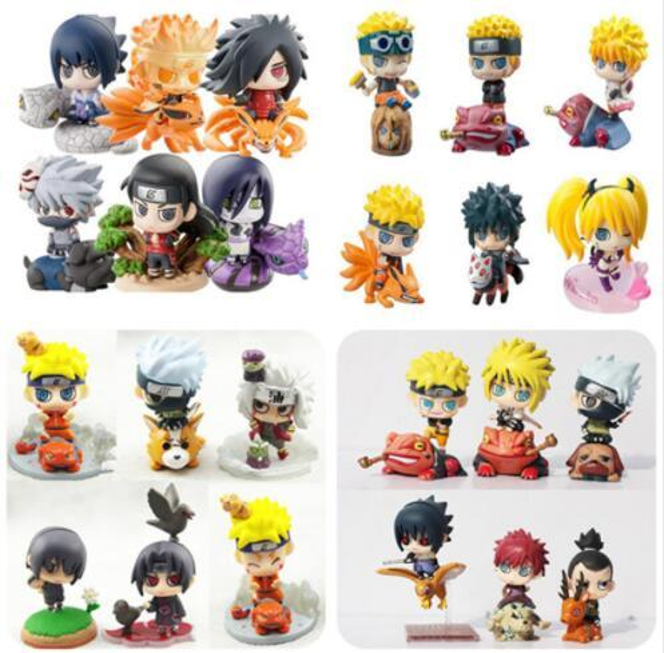 Naruto Action Figure Toys Uchiha Sasuke Uchiha Madara Q Version Anime pvc Figure Toys Dolls Model Kids Best Christmas Gift